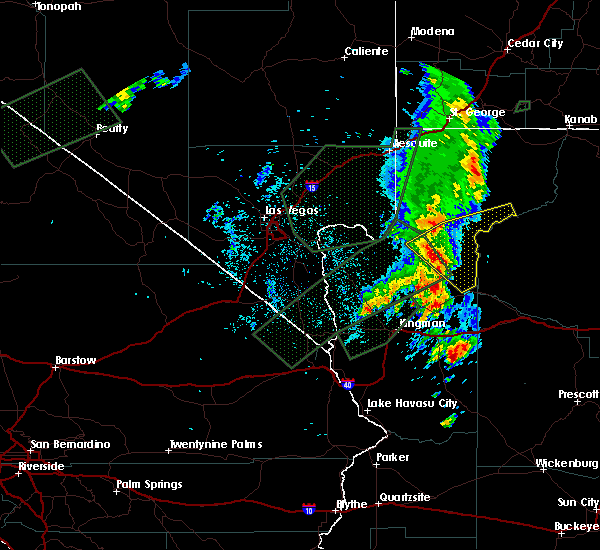 Radar Image for Severe Thunderstorms near Grand Canyon West, AZ at 10/18/2015 9:37 PM MST