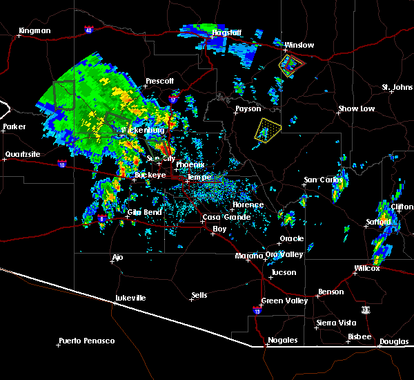 Radar Image for Severe Thunderstorms near Peoria, AZ at 10/20/2015 10:50 AM MST