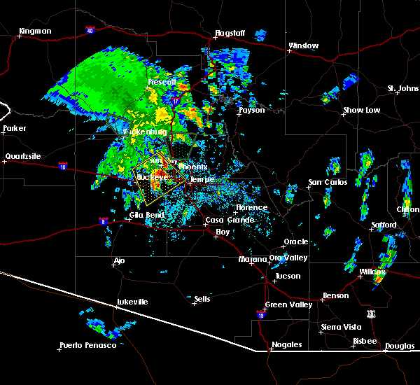 Radar Image for Severe Thunderstorms near Peoria, AZ at 10/20/2015 12:12 PM MST