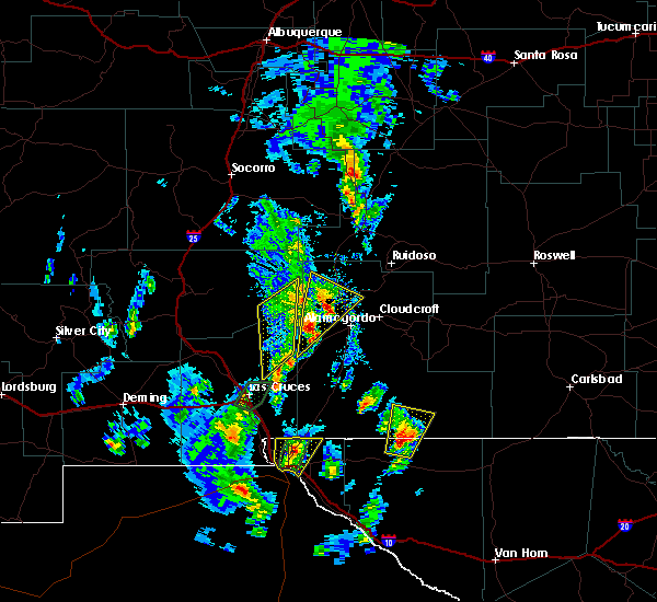 Radar Image For Severe Thunderstorms Near Tularosa NM At 10 21 2015 3