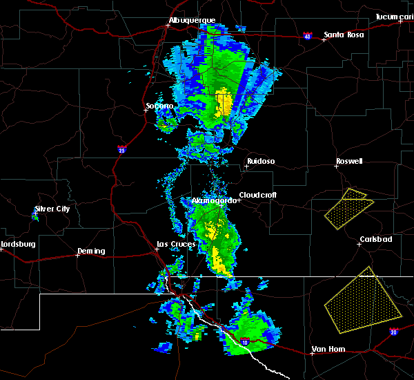 Radar Image for Severe Thunderstorms near Lake Arthur, NM at 10/21/2015 6:34 PM MDT