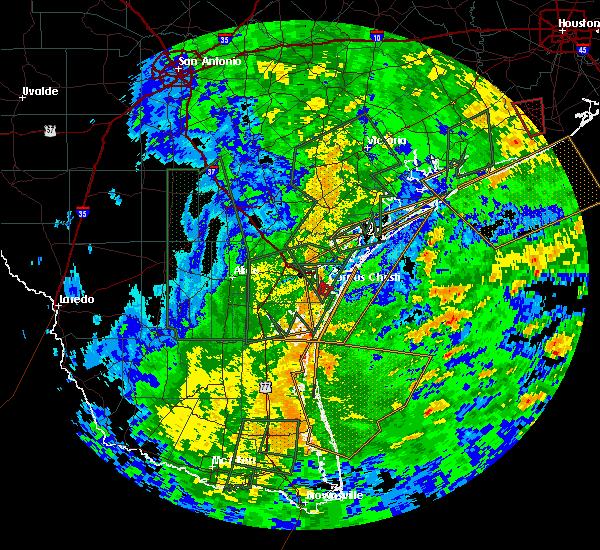 Radar Image for Severe Thunderstorms near Corpus Christi, TX at 10/24/2015 3:35 PM CDT