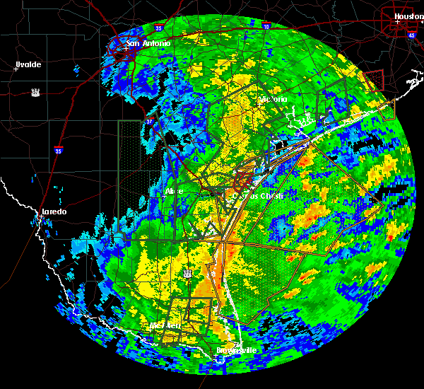 Radar Image for Severe Thunderstorms near Corpus Christi, TX at 10/24/2015 4:04 PM CDT