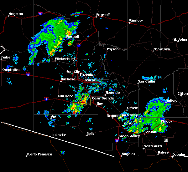 Radar Image for Severe Thunderstorms near Maricopa, AZ at 10/29/2015 12:42 PM MST