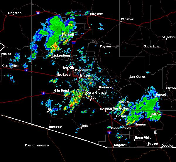 Radar Image for Severe Thunderstorms near Maricopa, AZ at 10/29/2015 1:06 PM MST