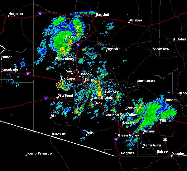 Radar Image for Severe Thunderstorms near Goodyear, AZ at 10/29/2015 1:45 PM MST