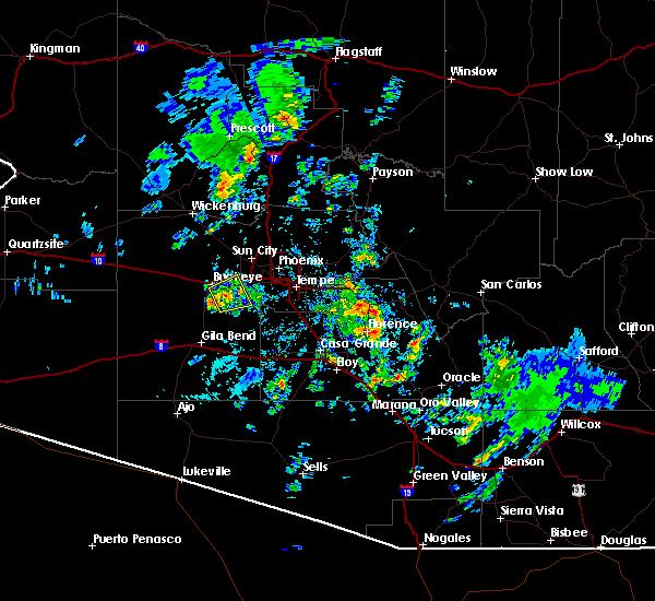 Radar Image for Severe Thunderstorms near Goodyear, AZ at 10/29/2015 2:03 PM MST