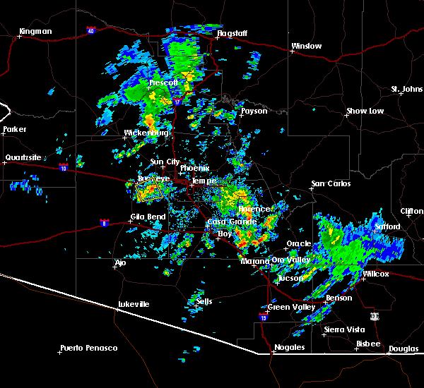 Radar Image for Severe Thunderstorms near Goodyear, AZ at 10/29/2015 2:13 PM MST