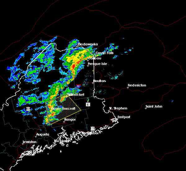 Radar Image for Severe Thunderstorms near Milo, ME at 10/29/2015 5:12 PM EDT