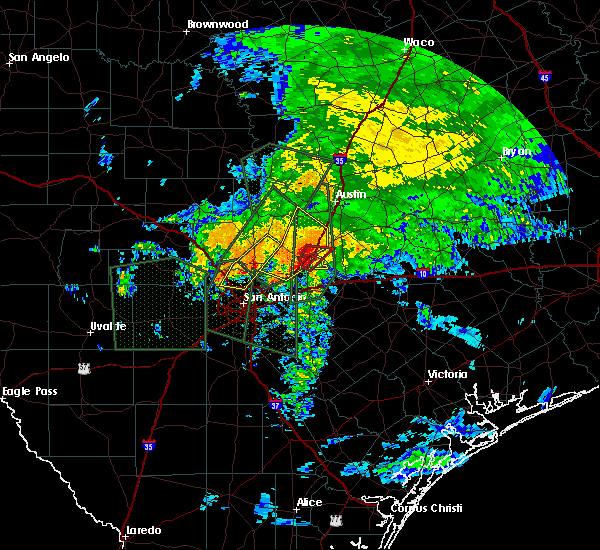 Radar Image for Severe Thunderstorms near Redwood, TX at 10/30/2015 7:46 AM CDT