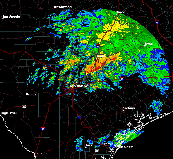 Radar Image for Severe Thunderstorms near Wimberley, TX at 10/30/2015 10:07 AM CDT