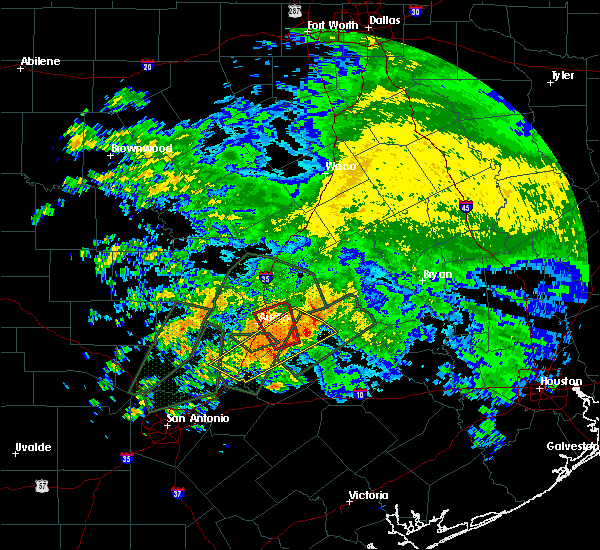 Radar Image for Severe Thunderstorms near Wimberley, TX at 10/30/2015 10:45 AM CDT