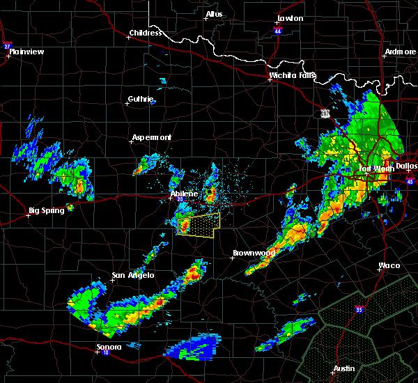 Radar Image for Severe Thunderstorms near Cross Plains, TX at 10/30/2015 8:38 PM CDT