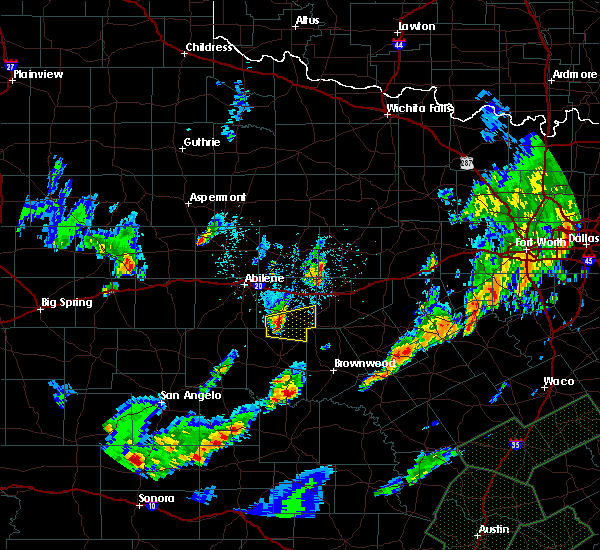 Radar Image for Severe Thunderstorms near Cross Plains, TX at 10/30/2015 8:53 PM CDT