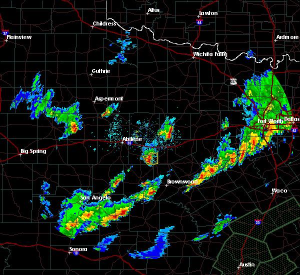 Radar Image for Severe Thunderstorms near Cross Plains, TX at 10/30/2015 9:09 PM CDT