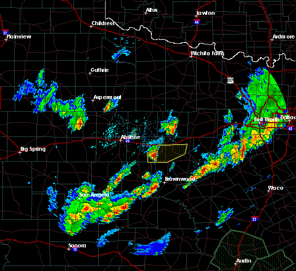 Radar Image for Severe Thunderstorms near Cross Plains, TX at 10/30/2015 9:18 PM CDT