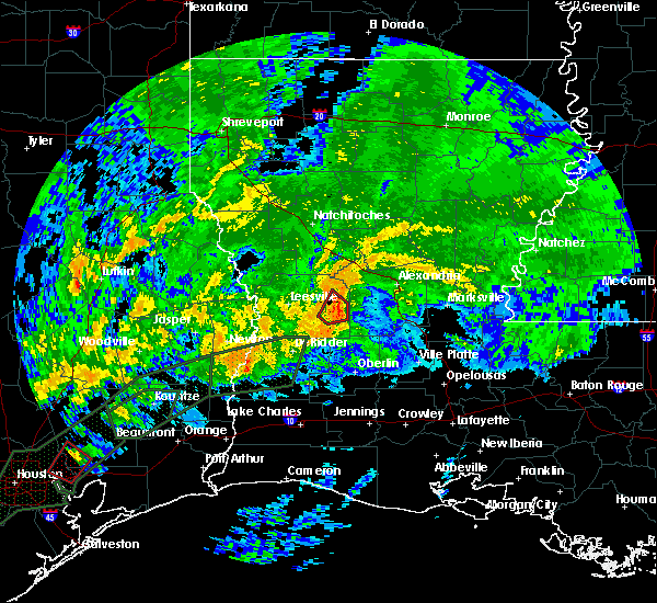 Radar Image for Severe Thunderstorms near Ball, LA at 10/31/2015 7:19 AM CDT