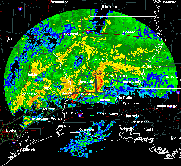 Radar Image for Severe Thunderstorms near Ball, LA at 10/31/2015 7:42 AM CDT