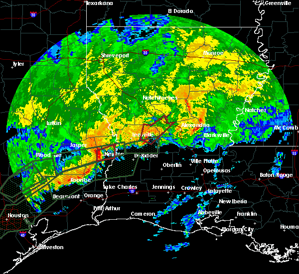 Radar Image for Severe Thunderstorms near Boyce, LA at 10/31/2015 8:49 AM CDT