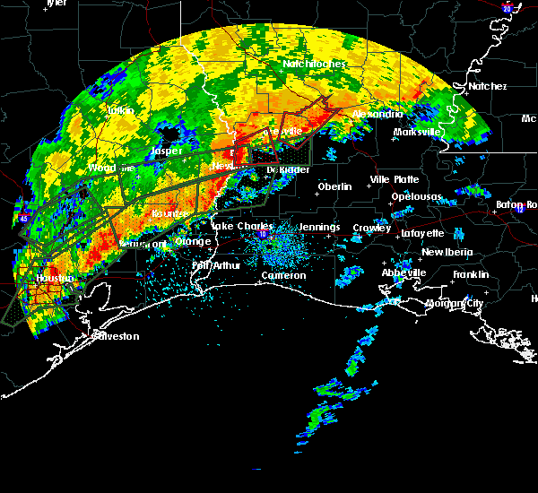 Radar Image for Severe Thunderstorms near DeRidder, LA at 10/31/2015 9:22 AM CDT
