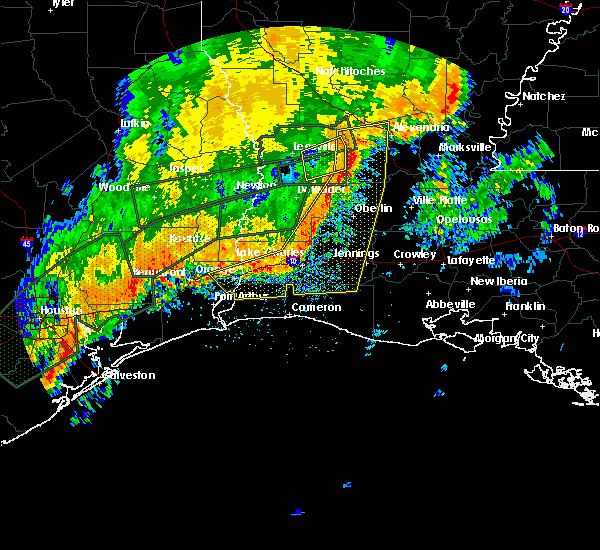 Radar Image for Severe Thunderstorms near Sugartown, LA at 10/31/2015 10:26 AM CDT