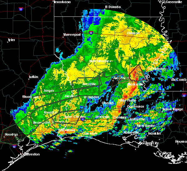 Radar Image for Severe Thunderstorms near Center Point, LA at 10/31/2015 11:58 AM CDT