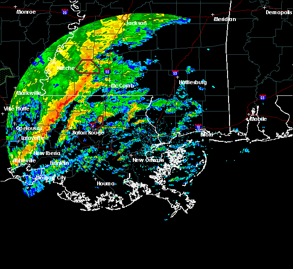Radar Image for Severe Thunderstorms near Independence, LA at 10/31/2015 1:36 PM CDT