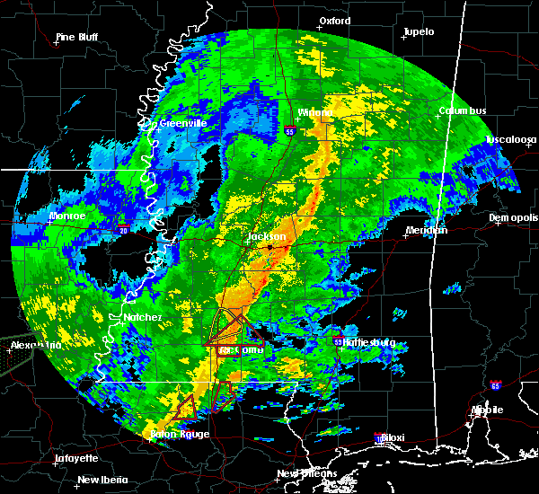 Radar Image for Severe Thunderstorms near Summit, MS at 10/31/2015 2:23 PM CDT
