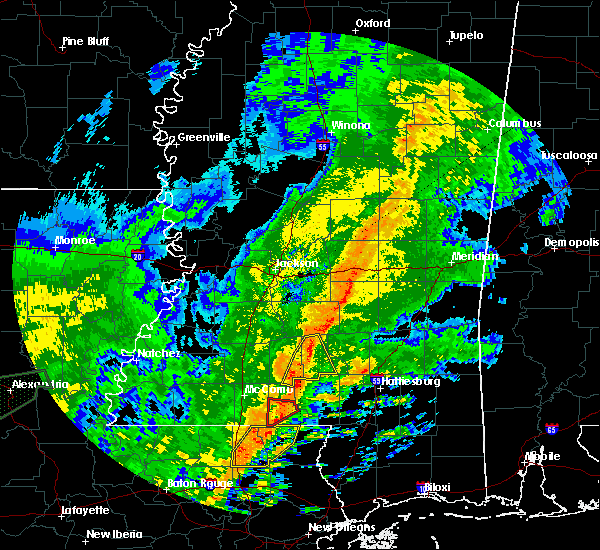 Radar Image for Severe Thunderstorms near Prentiss, MS at 10/31/2015 3:02 PM CDT