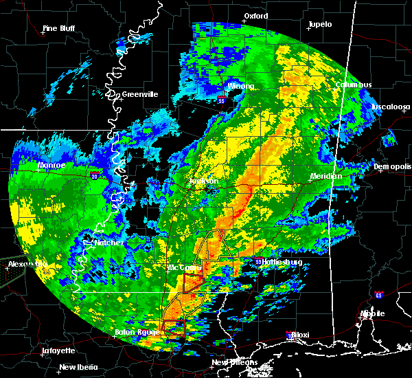 Radar Image for Severe Thunderstorms near Prentiss, MS at 10/31/2015 3:11 PM CDT