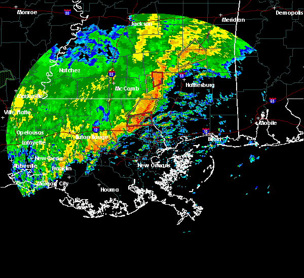 Radar Image for Severe Thunderstorms near Purvis, MS at 10/31/2015 3:52 PM CDT