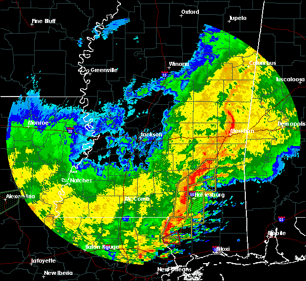 Radar Image for Severe Thunderstorms near Ellisville, MS at 10/31/2015 4:19 PM CDT