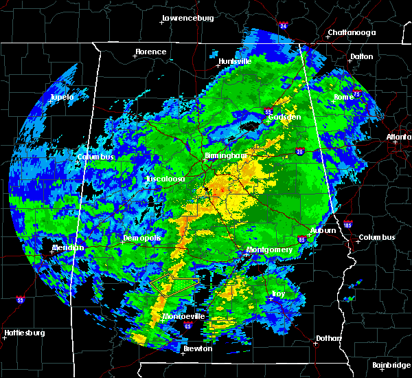 Radar Image for Severe Thunderstorms near Oak Hill, AL at 10/31/2015 8:58 PM CDT