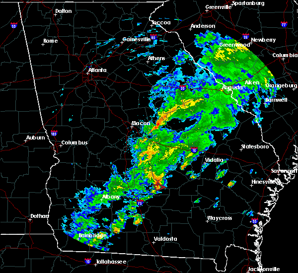 Radar Image for Severe Thunderstorms near Milan, GA at 11/2/2015 4:04 PM EST
