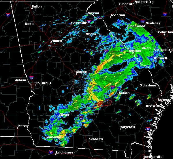 Radar Image for Severe Thunderstorms near Lumber City, GA at 11/2/2015 4:31 PM EST