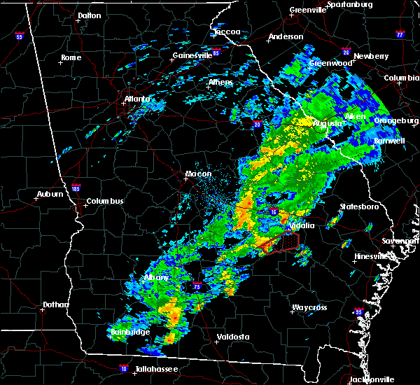 Radar Image for Severe Thunderstorms near Lyons, GA at 11/2/2015 5:02 PM EST