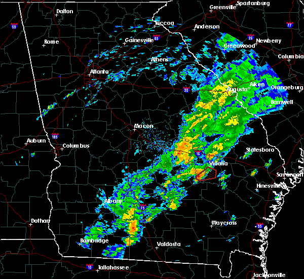 Radar Image for Severe Thunderstorms near Lyons, GA at 11/2/2015 5:19 PM EST