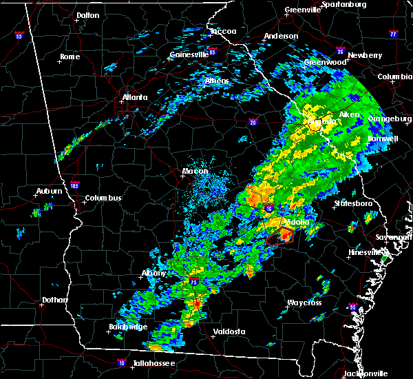 Radar Image for Severe Thunderstorms near Lyons, GA at 11/2/2015 5:44 PM EST