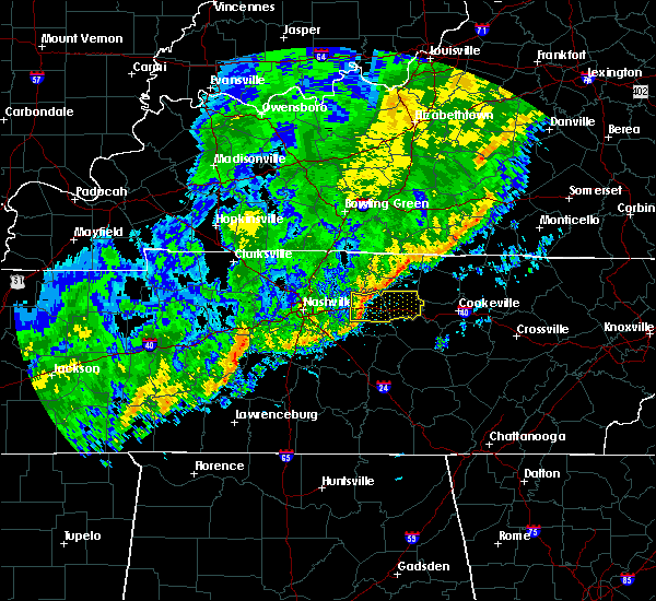 Radar Image for Severe Thunderstorms near Lebanon, TN at 11/6/2015 4:24 AM CST