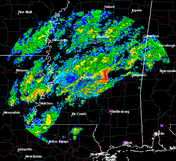 Radar Image for Severe Thunderstorms near Newton, MS at 11/6/2015 7:58 PM CST