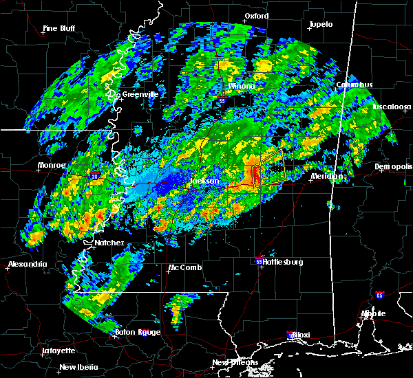 Radar Image for Severe Thunderstorms near Newton, MS at 11/6/2015 8:17 PM CST
