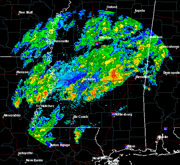Radar Image for Severe Thunderstorms near Newton, MS at 11/6/2015 8:29 PM CST