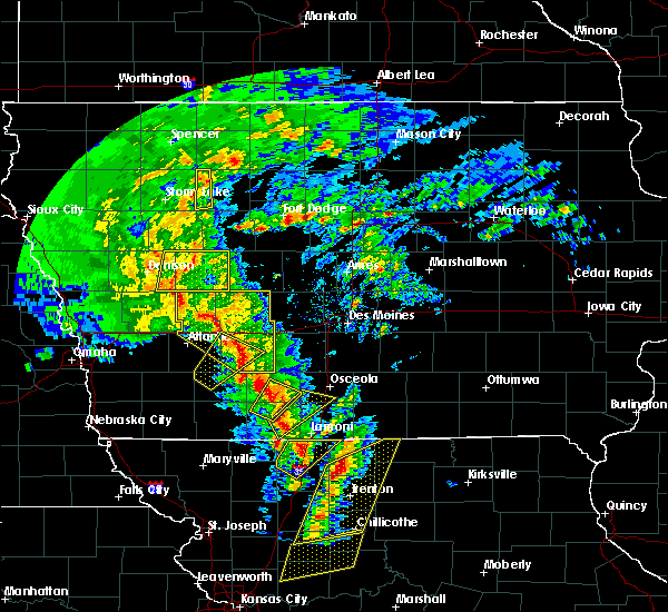 Radar Image for Severe Thunderstorms near Murray, IA at 11/11/2015 2:33 PM CST