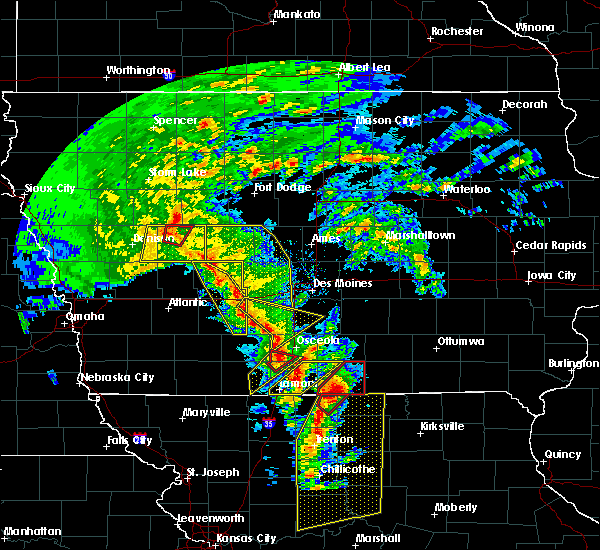 Radar Image for Severe Thunderstorms near Murray, IA at 11/11/2015 2:55 PM CST