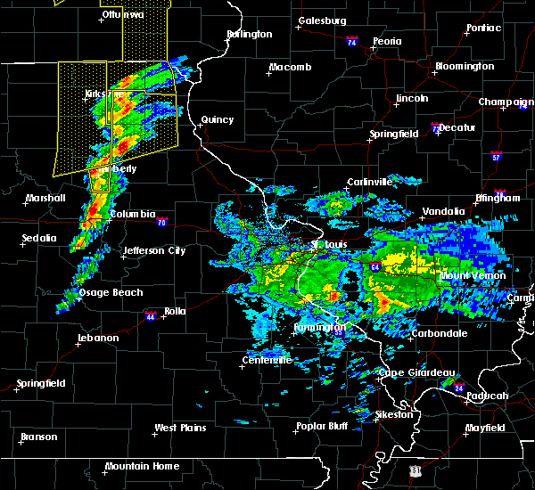 Radar Image for Severe Thunderstorms near Newark, MO at 11/11/2015 4:32 PM CST