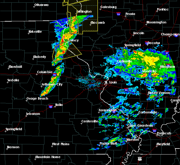Radar Image for Severe Thunderstorms near Monroe City, MO at 11/11/2015 5:37 PM CST