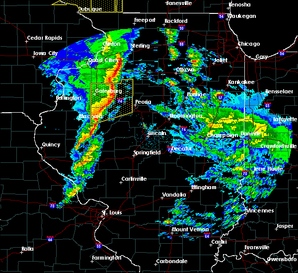 Radar Image for Severe Thunderstorms near Cuba, IL at 11/11/2015 6:57 PM CST