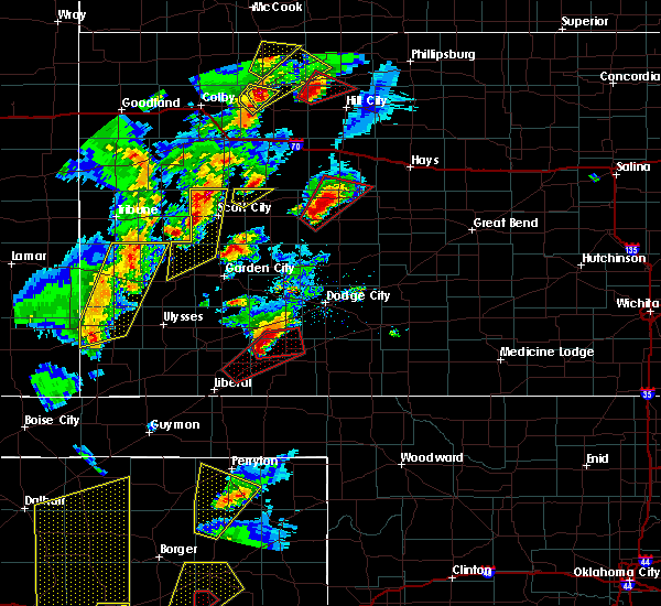 Radar Image for Severe Thunderstorms near Fowler, KS at 11/16/2015 6:24 PM CST