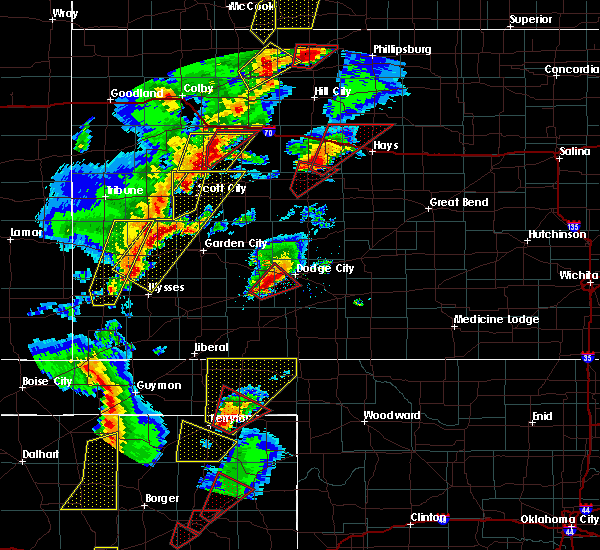 Radar Image for Severe Thunderstorms near Healy, KS at 11/16/2015 7:00 PM CST