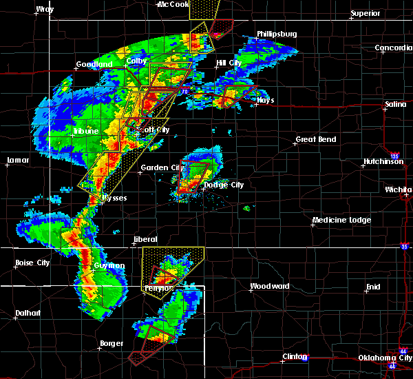 Radar Image for Severe Thunderstorms near Healy, KS at 11/16/2015 7:17 PM CST